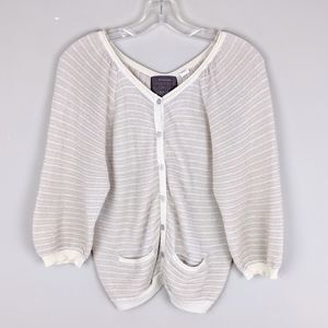 Anthropologie | Creme Sparkly Cardigan